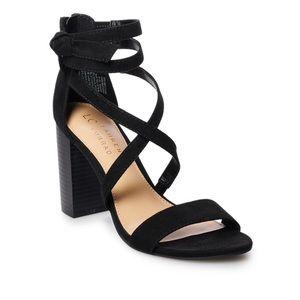 NWOT Lauren Conrad black heels